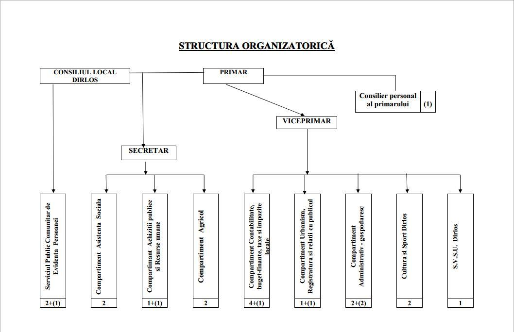 Organigrama Primariei Dîrlos